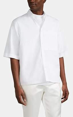Jil Sander Men's Patch-Pocket Cotton Poplin Shirt - White