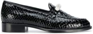 Giuseppe Zanotti Design embellished croco loafers