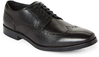 Cole Haan Black Jay Grand Leather Wingtip Oxfords