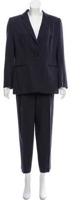 Giorgio Armani Virgin Wool Wide-Leg Pantsuit