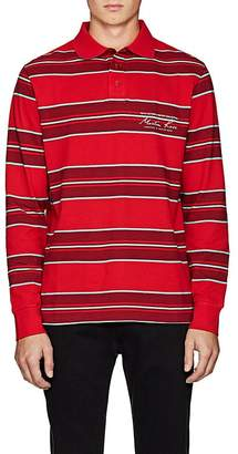 Martine Rose Men's Striped Cotton Piqué Polo Shirt