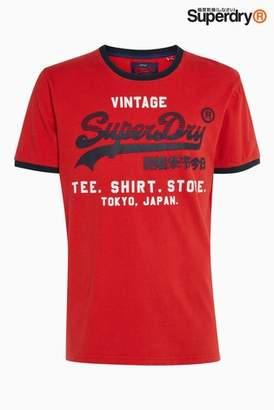 Next Mens Superdry Shirt Shop Retro Ringer Tee