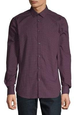 Point Zero Textured Long-Sleeve Button-Down Shirt