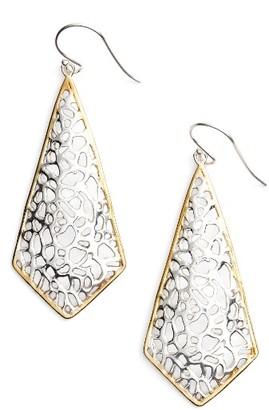 Women's Argento Vivo Two Tone Lace Kite Earrings $58 thestylecure.com