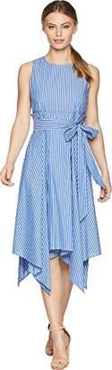 Tahari by Arthur S. Levine Women's Petite Cotton Stripe Dress