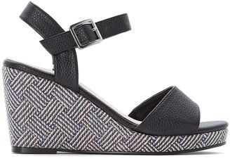 CASTALUNA PLUS SIZE Wide Fit Patterned Wedge Sandals
