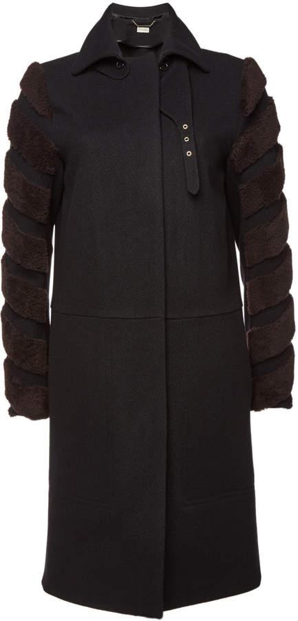 Belianna Wool Coat with Shearling