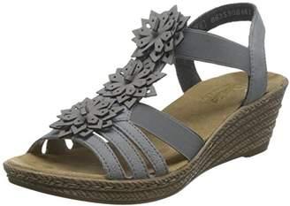 Rieker 62461-43, Women's Heels Sandals,4 UK (37 EU)