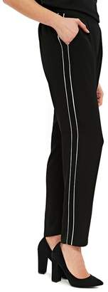 Wallis Black Contrast Pipe Joggers