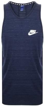 Nike Logo Vest T Shirt Navy