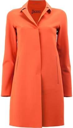Herno concealed fastening coat
