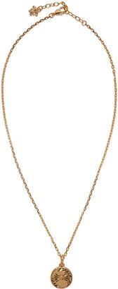 Versace Gold Small Medusa Necklace $275 thestylecure.com