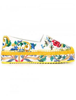 Dolce & Gabbana Majolica print platform espadrilles $575 thestylecure.com