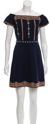 Tory Burch Embroidered A-Line Dress