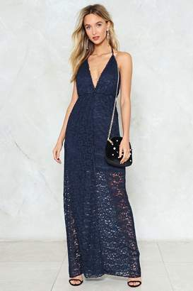 Nasty Gal Leave It V Crochet Dress