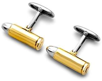 Aspinal of London Sterling Silver & Gold Plated Bullet Cufflinks
