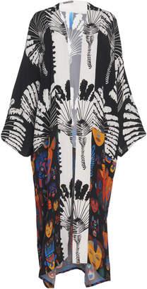 Rianna + Nina Carnaval Silk-Printed Kimono