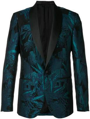 Roberto Cavalli floral jacquard evening blazer