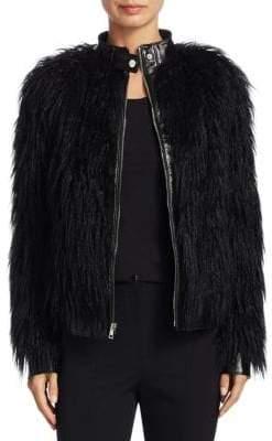 Theory Mongolian Faux Fur Jacket