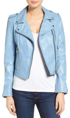 Moto LAMARQUE Donna Lambskin Leather Jacket