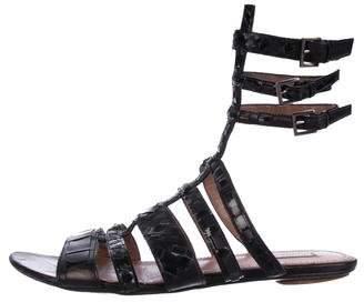 Alaia Cole Leather Sandals