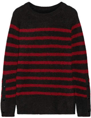 By Malene Birger Iwannio Striped Knitted Sweater - Claret