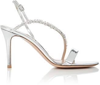 Gianvito Rossi Women's Crystal-Embellished Specchio Leather Sandals