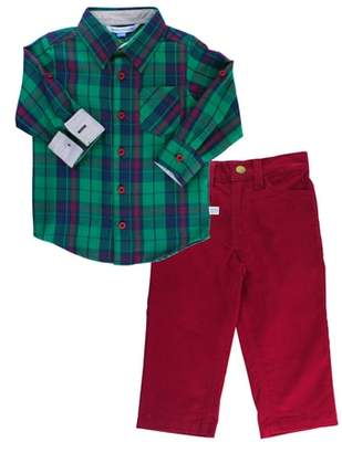 RuggedButts Micah Plaid Shirt & Corduroy Pants Set