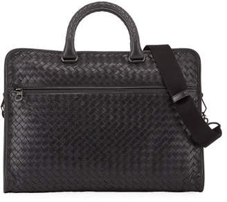 Bottega Veneta Softie Slim Woven Briefcase