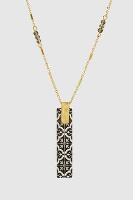 Embellish Wood Bar Necklace