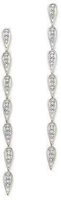 Adina Sterling Silver Pavé Diamond Teardrop Link Earrings