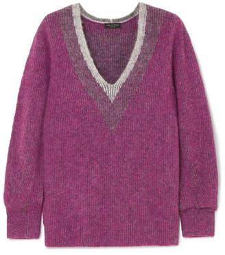 Rag & Bone Jonie Brushed Knitted Sweater - Purple