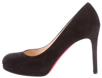 Christian Louboutin Suede Simple Pumps $340 thestylecure.com