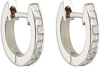 Ileana Makri Women's White Diamond Huggie Hoops