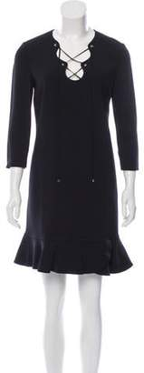 Emilio Pucci Lace-Up Mini Dress Black Lace-Up Mini Dress