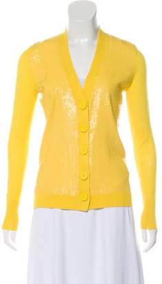 Tory Burch Wool Sequined Cardigan
