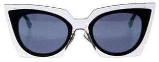 Fendi Mirrored Cat-Eye Sunglasses