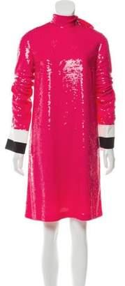 Emilio Pucci Silk Sequin Dress Fuchsia Silk Sequin Dress