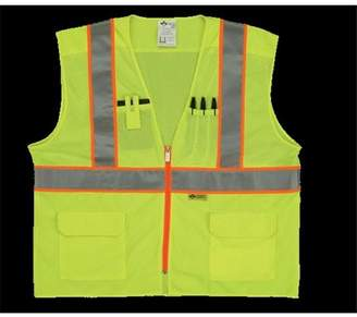 2W MS530C-2 XXL Class 2 Mesh And Solid, Ansi Vest - Lime, XX-Large