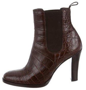 Ralph Lauren Collection Dania Crocodile Ankle Boots