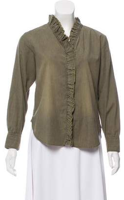 Etoile Isabel Marant Long Sleeve Button-Up Top w/ Tags