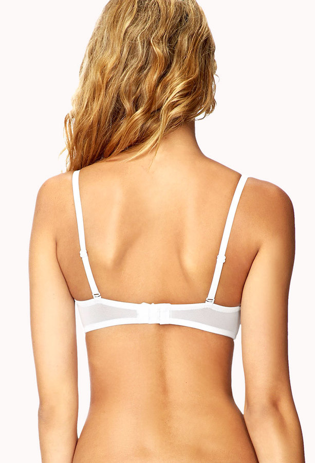 Forever 21 Crochet Overlay Push-Up Bra