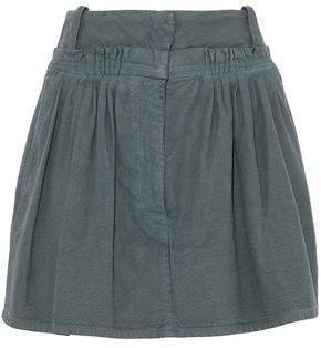 J.W.Anderson Pleated Cotton-Canvas Mini Skirt
