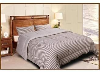Newpoint International Inc Luxury Natural 100 Percent Jersey Cotton Washable Woven Stripe Comforter Mini Set