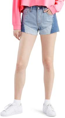 Levi's 501(R) Colorblock High Waist Cutoff Shorts