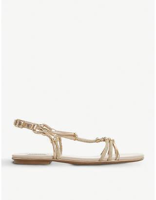 Dune Novaa rope and metallic leather sandals