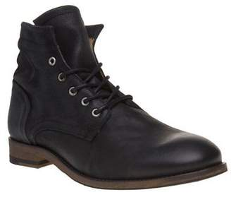 Sole New Mens Black Boyton Leather Boots Lace Up Zip