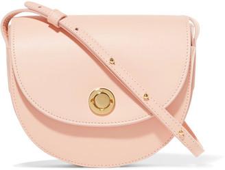 Mansur Gavriel - Saddle Mini Leather Shoulder Bag - Pastel pink $695 thestylecure.com
