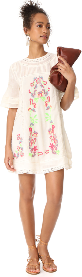 Free People Perfectly Victorian Embroidered Mini Dress 16