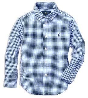 Ralph Lauren Boys' Gingham Button-Down Shirt - Little Kid